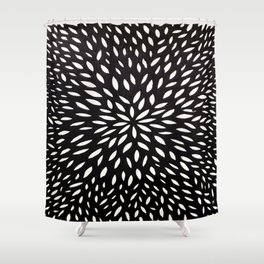 White Floret Shower Curtain