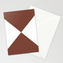 Four Triangles (White & Maroon Pattern) Stationery Cards