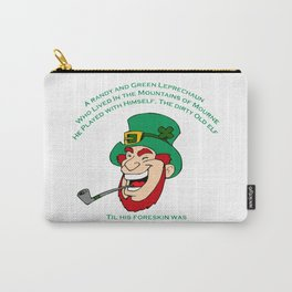 A Randy And Green Leprechaun St Patrick's Day Limerick Carry-All Pouch