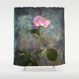 Single Wilted Rose Shower Curtain