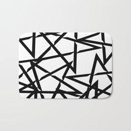 Interlocking Black Star Polygon Shape Design Bath Mat