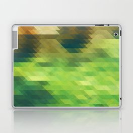 Green yellow triangle pattern, lake Laptop & iPad Skin