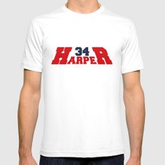 HR Harper Red and Blue White Mens Fitted Tee SMALL