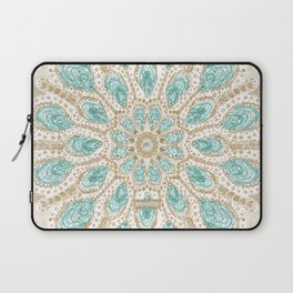 MMMOYSTERS Gold-Rimmed Oyster Mandala Laptop Sleeve