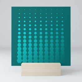 Hexagon AM Pattern Mini Art Print