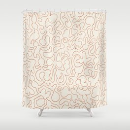 Puzzle Drawing #2 Gold Shower Curtain
