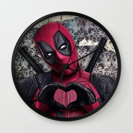 Dead pool - Sweet superhero Wall Clock