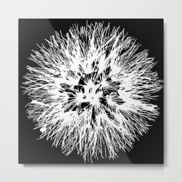 Make A Wish Dandelion Vector In White Metal Print