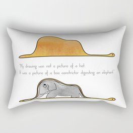 The Little Prince, a hat or a boa constrictor? Rectangular Pillow