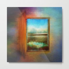 Window to Anywhere Metal Print