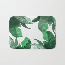 Tropical Palm Print Bath Mat