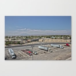 Truck Stop HDR Canvas Print