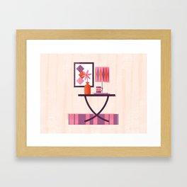 Mid-Century Modern Living - Table Framed Art Print