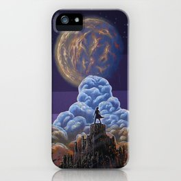 Man in front of the Moon iPhone Case