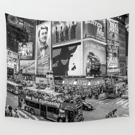 Times Square II Special Edition III BW Wall Tapestry