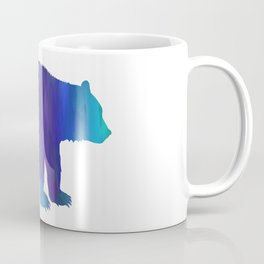 Rainbow Watercolor Dripping Bear Coffee Mug