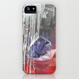 blue french bulldog in a paperboat iPhone Case