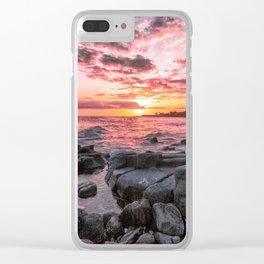 2016 Pink Kauai Sunset Clear iPhone Case