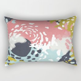 Athena - Abstract, pink, pastel, yellow, blue painting, abstract cell phone case, painterly design Rectangular Pillow