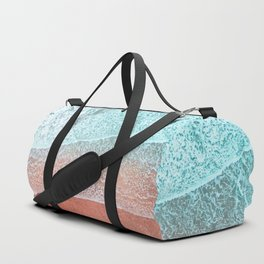 The Break - Turquoise Sea Pastel Pink Beach II Duffle Bag