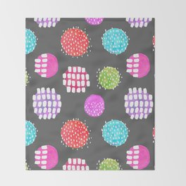 Watercolor Dots & Dashes Throw Blanket