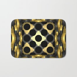 Stylish ornamented cup with an openwork structural mesh. Bath Mat
