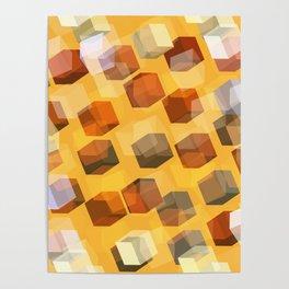 transparent cubes Poster