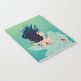 Underwater Lady Notebook
