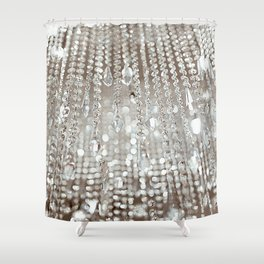 Crystals and Light Shower Curtain