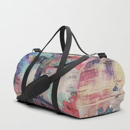 Totem Cabin Abstract - Multi Duffle Bag