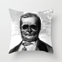 demon Throw Pillows featuring Demon by DIVIDUS DESIGN STUDIO