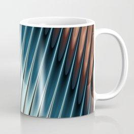 Stripey Pins Teal & Taupe - Fractal Art Coffee Mug