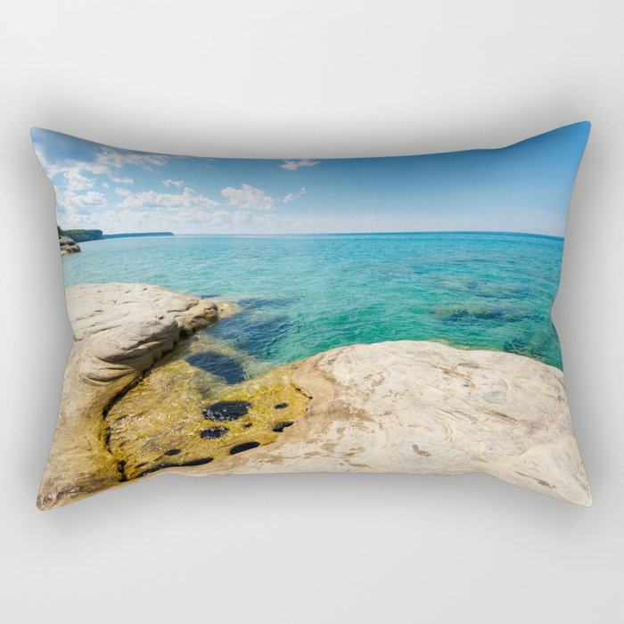 The Coves on Lake Superior - Pictured Rocks Rectangular Pillow