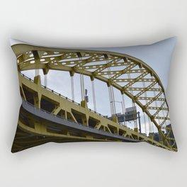 Pittsburgh Tour Series - Bridge from River Rectangular Pillow