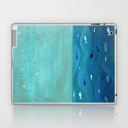 Over the waves Laptop & iPad Skin