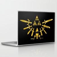 triforce Laptop & iPad Skins featuring Triforce Z by le.duc