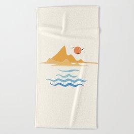 Minimalistic Summer III Beach Towel