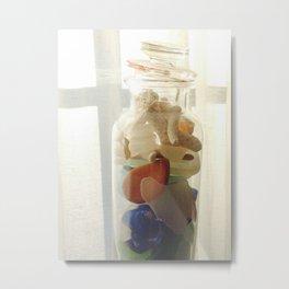 Glass in Jar Metal Print