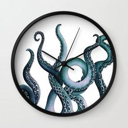 Kraken Teal Wall Clock