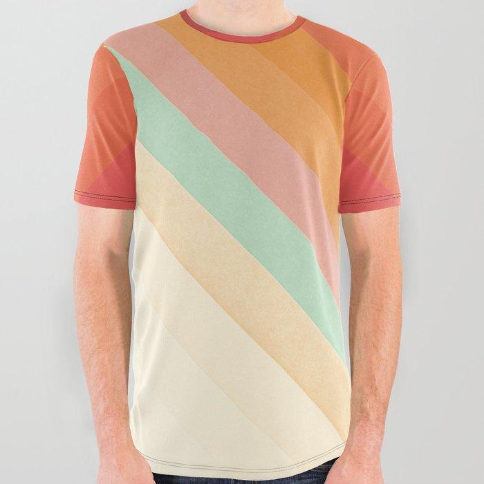 Rainbow Chevrons All Over Graphic Tee