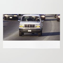 OJ Simpson Car Chase Rug