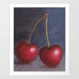 Cherries - Oil Painting Art Print