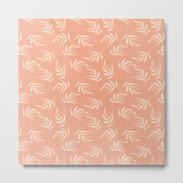 Salmon leaves and branches pattern Metal Print