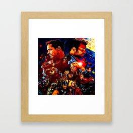 art super hero Framed Art Print