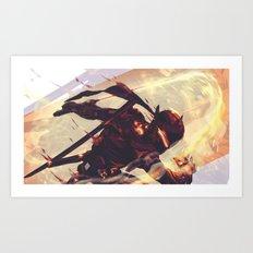 Black steel Genji Art Print