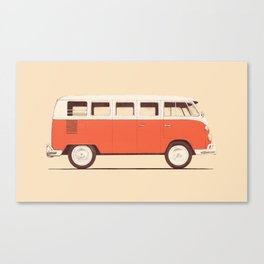 Van - Red Canvas Print