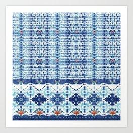 Indigo Shibori Art Print