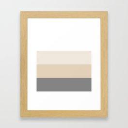 Gray beige and neutral stripes Framed Art Print