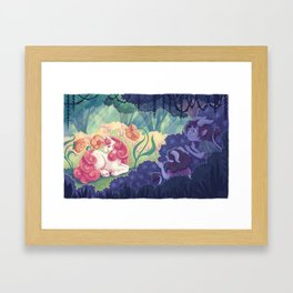 Magical creatures Framed Art Print