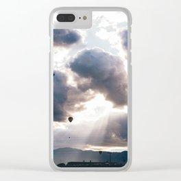 Hot Air Ballon Festival Sunrise Clear iPhone Case